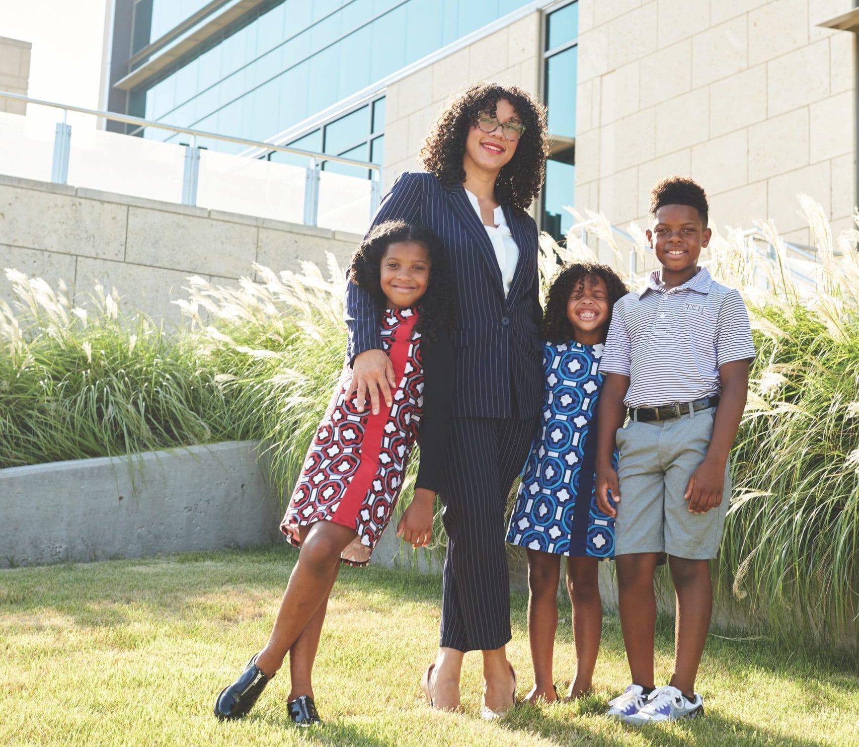 Danika Franks with her three kids
