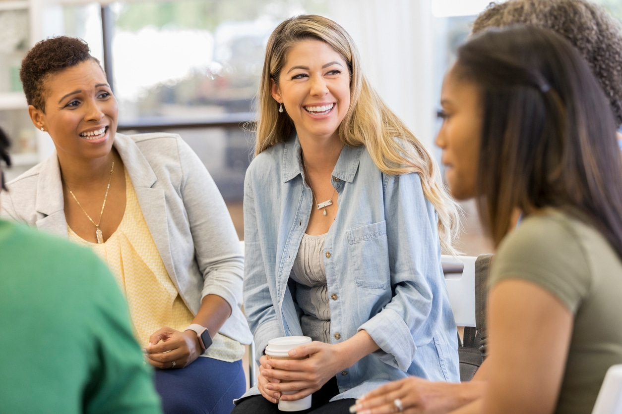 Women talking in a support group