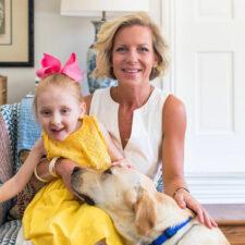 Amanda Lang with her daughter with Rett syndrome, Photo courtesy of Korena Bolding Sinnett