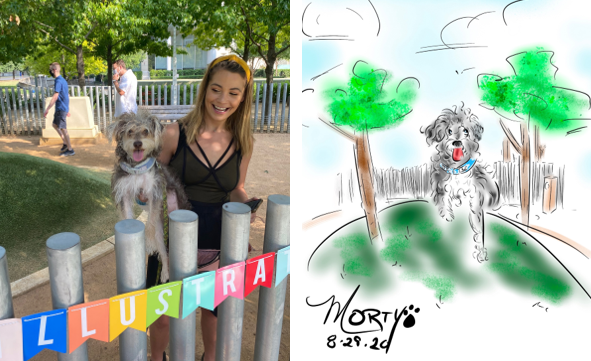 Custom Pet Portraits at the Park, Totally Gonzo