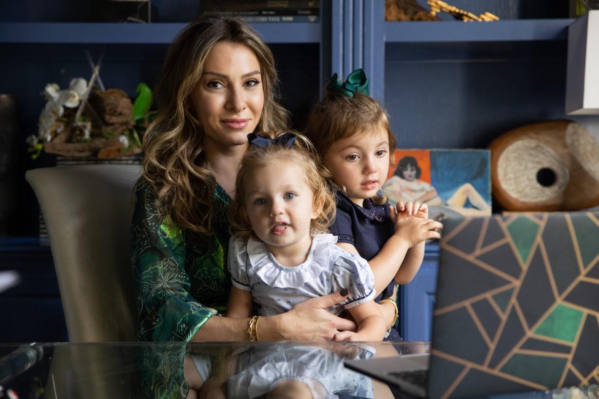 Jody Stein with her two kids