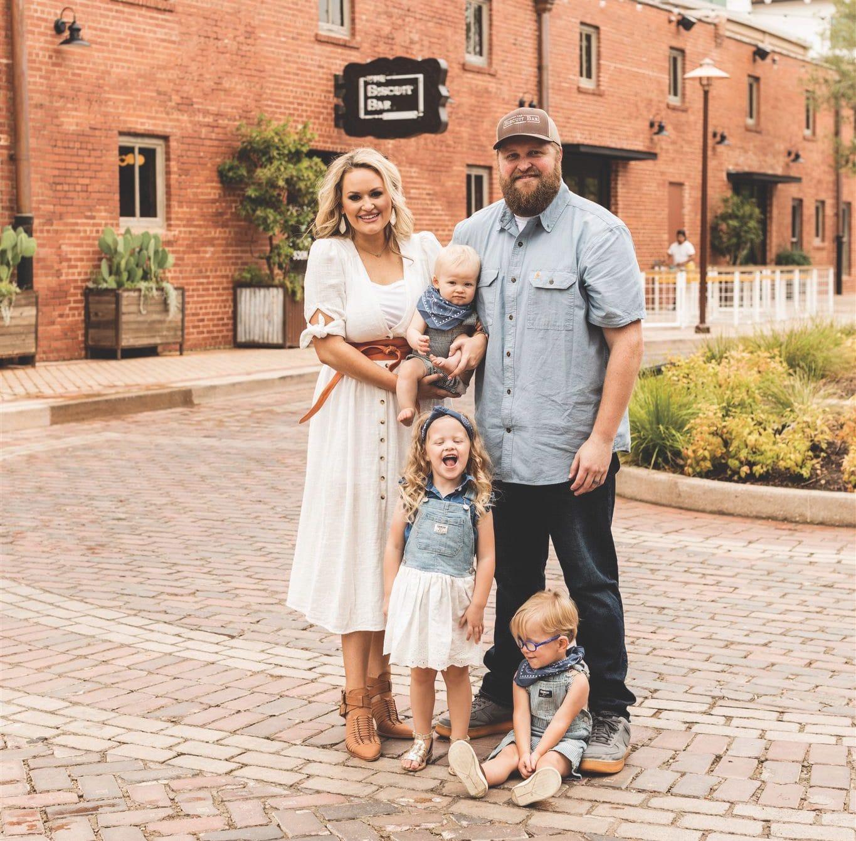 Janie Burkett and family