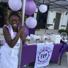 Jasmine with jazzy's sassy scones business