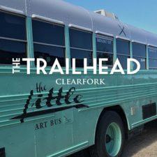 The Little Art Bus at the Trailhead