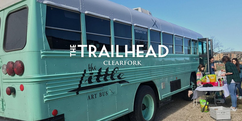 The Little Art Bus at the Trailhead