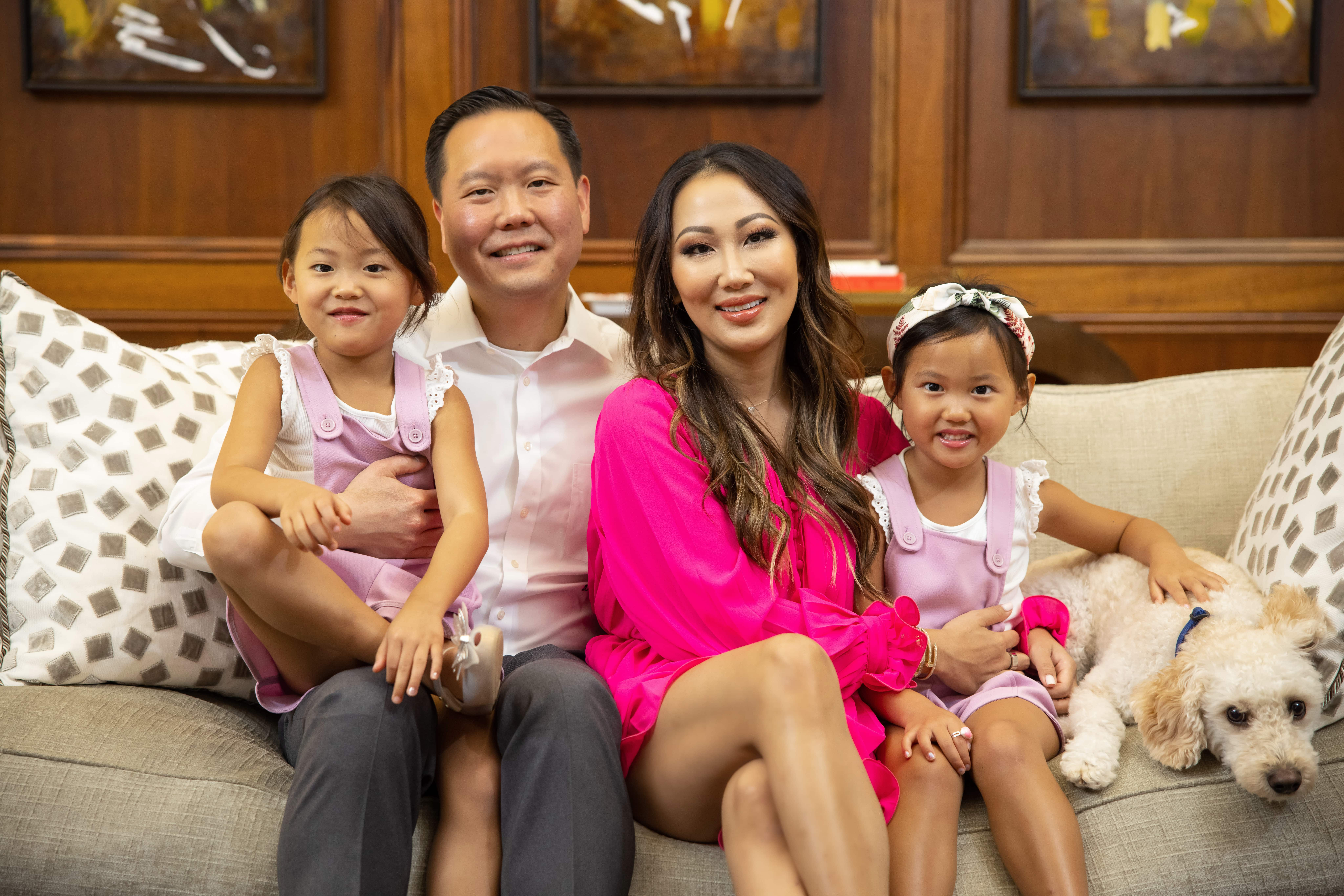Tiffany Moon with husband and daughters