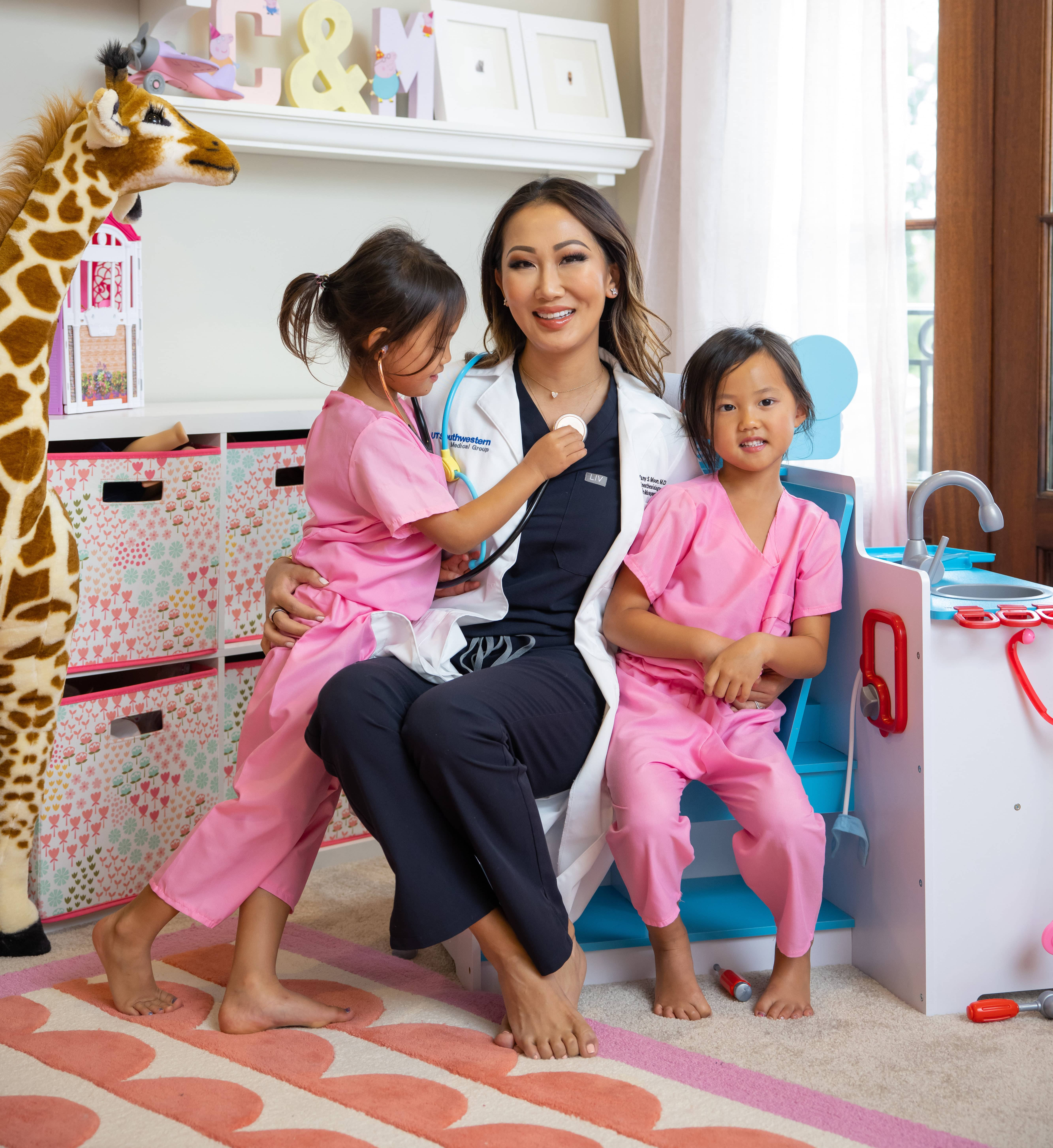 Tiffany Moon with her kids