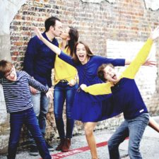 Erika Slater with her husband and kids