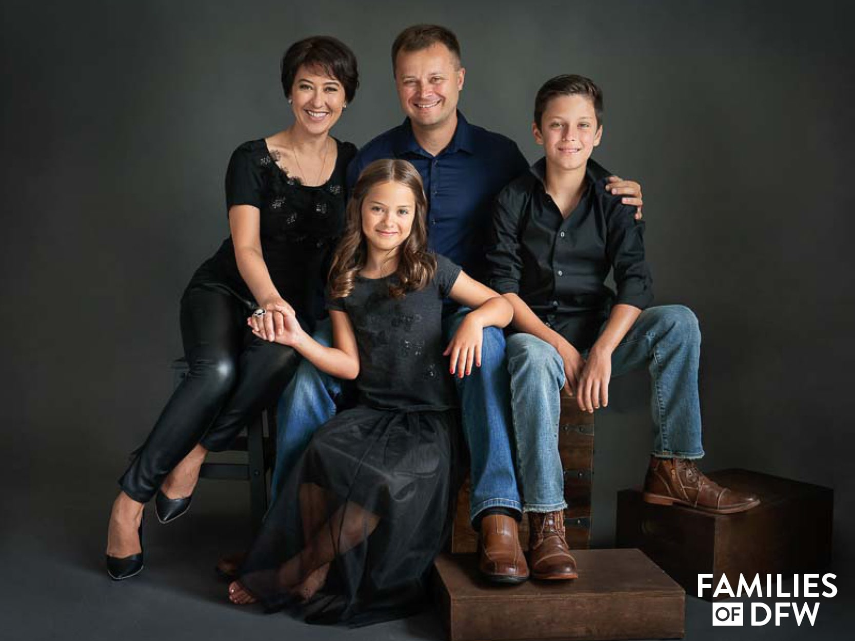 Tatiana Morosyuk and her family
