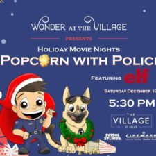 Popcorn with Police and Elf movie at The Village at Allen