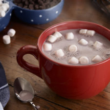a mug filled with hot chocolate