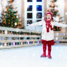 Girl ice skating in winter, iStock