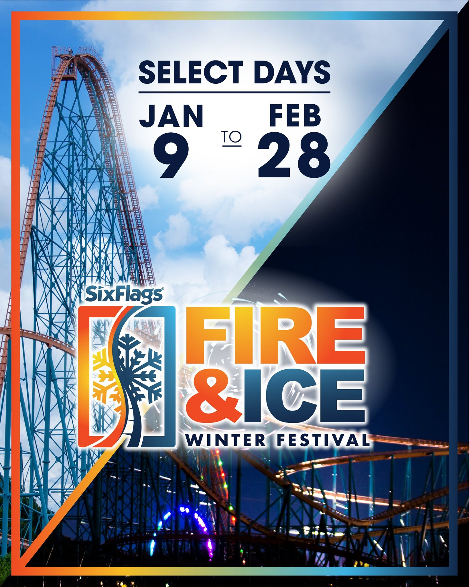 Six Flags Over Texas, Fire & Ice Winter Festival