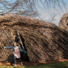 Stickwork exhibit by Patrick Dougherty, Fort Worth Botanic Garden