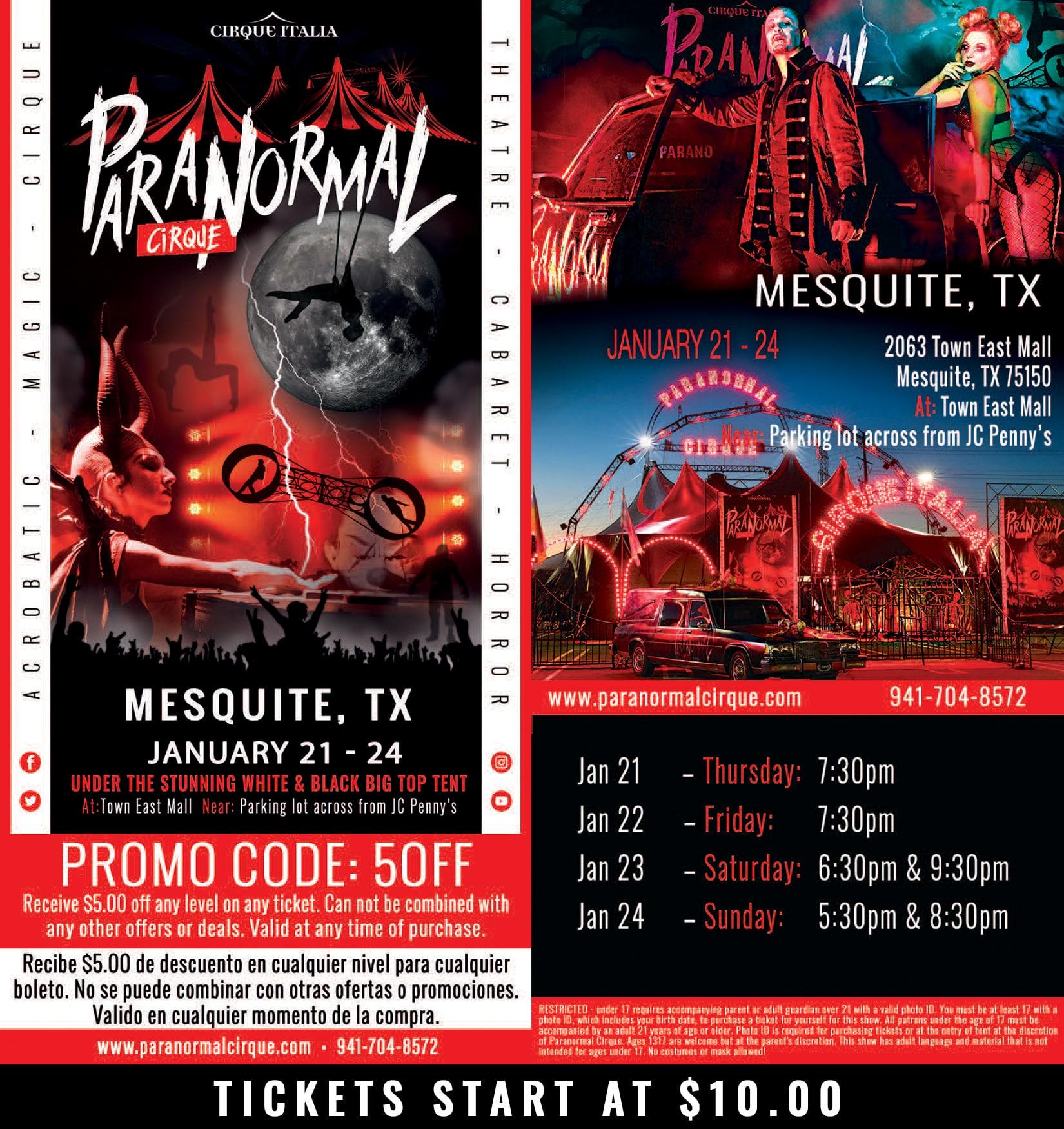 Paranormal Cirque, Mesquite poster