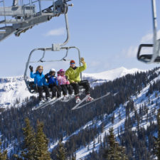 family skiing in colorado
