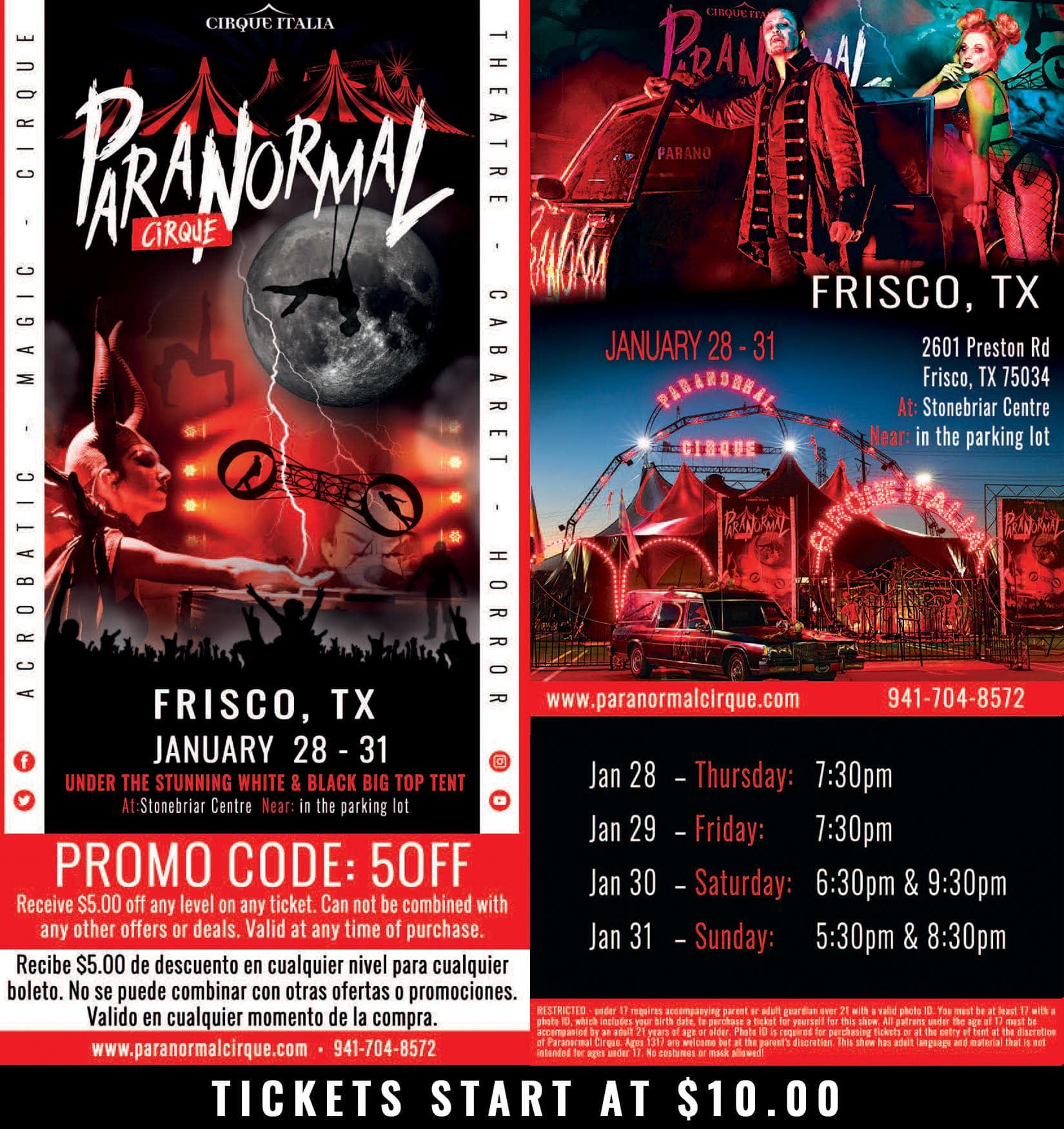 Paranormal Cirque, Frisco poster