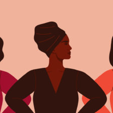 women standing for black history month