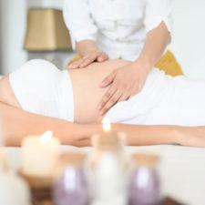 woman receiving prenatal massage