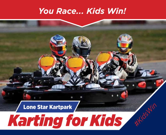Karting for Kids at Lone Star Kartpark at Texas Motor Speedway, Speedway Children's Charities