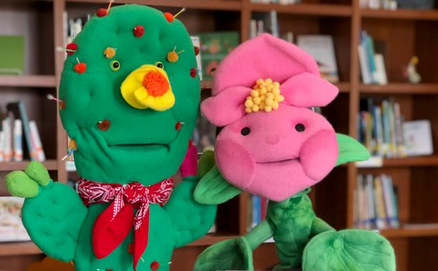BRIT, Bella the Begonia and Carlos the Cactus