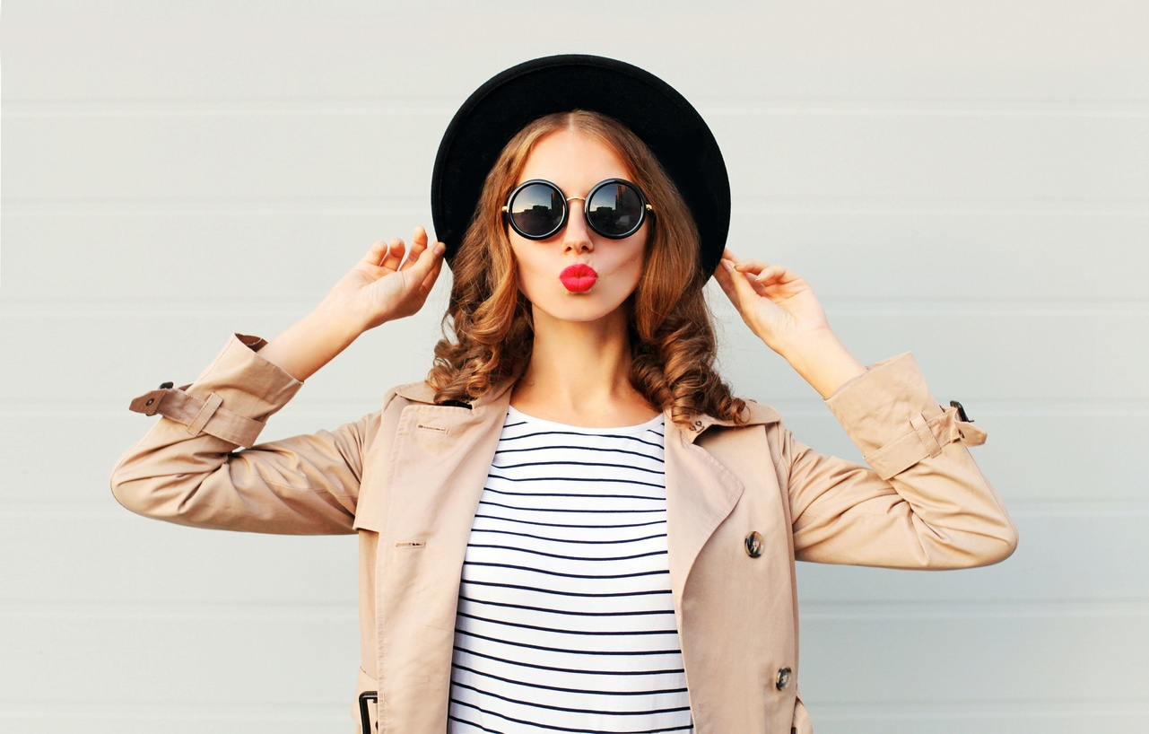 fashionable woman in spring and summer trends