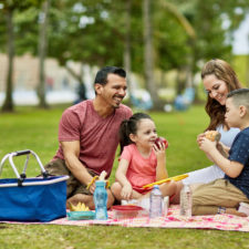 family having a picnic