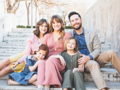 amy preston with her family