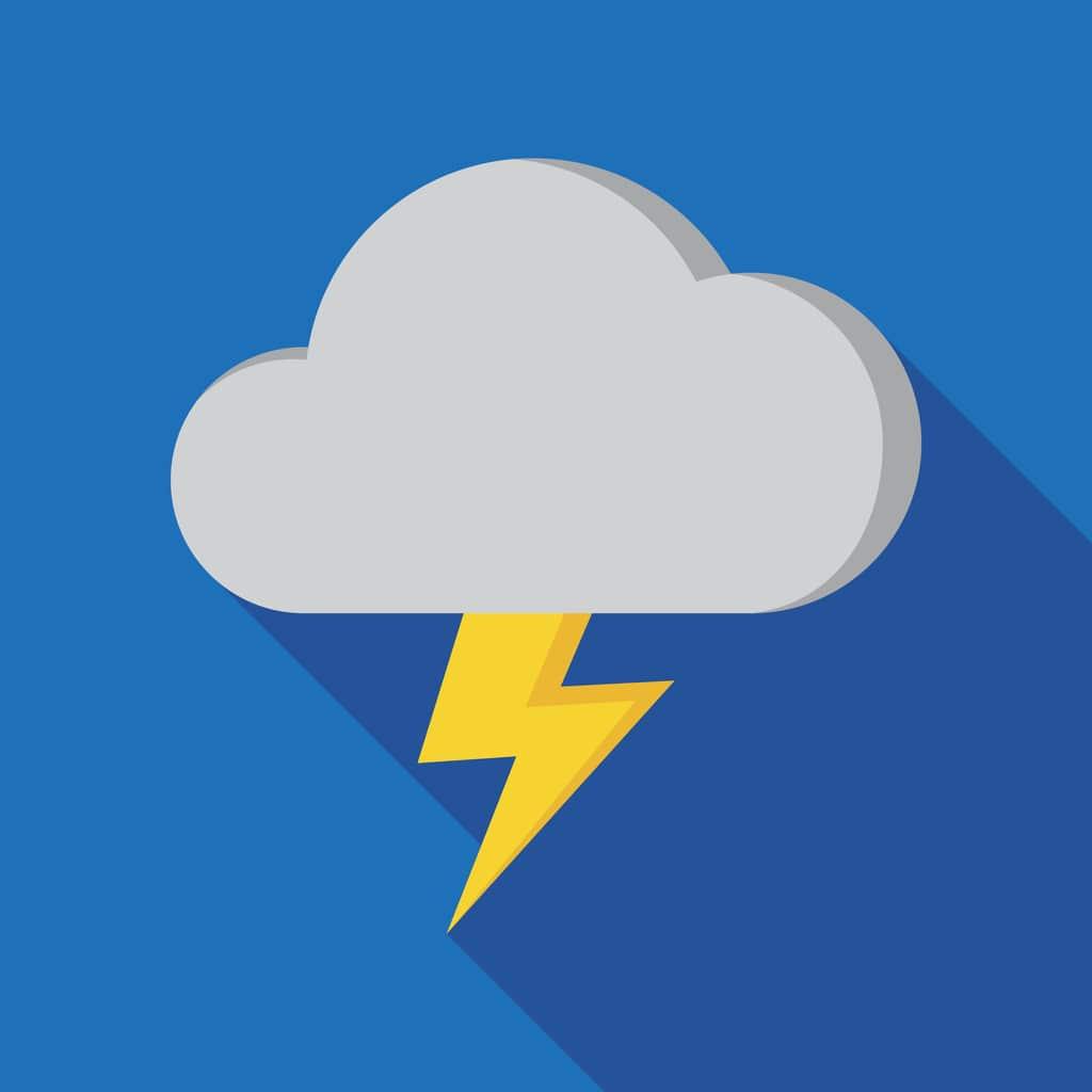 thundercloud weather illustration