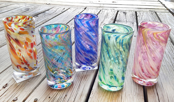 Vetro Glassblowing, tumbler glasses
