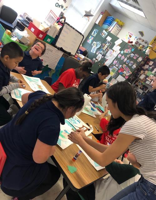 rhea rajani with her students