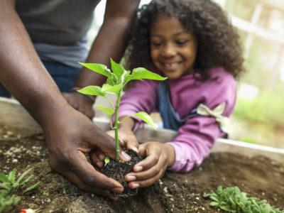 kids volunteering in the community