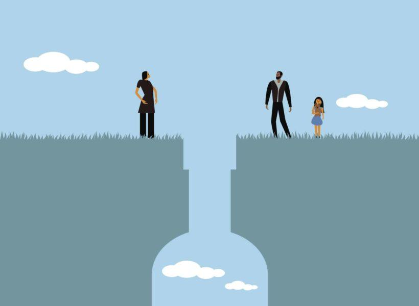 alcoholism and parenting illustration