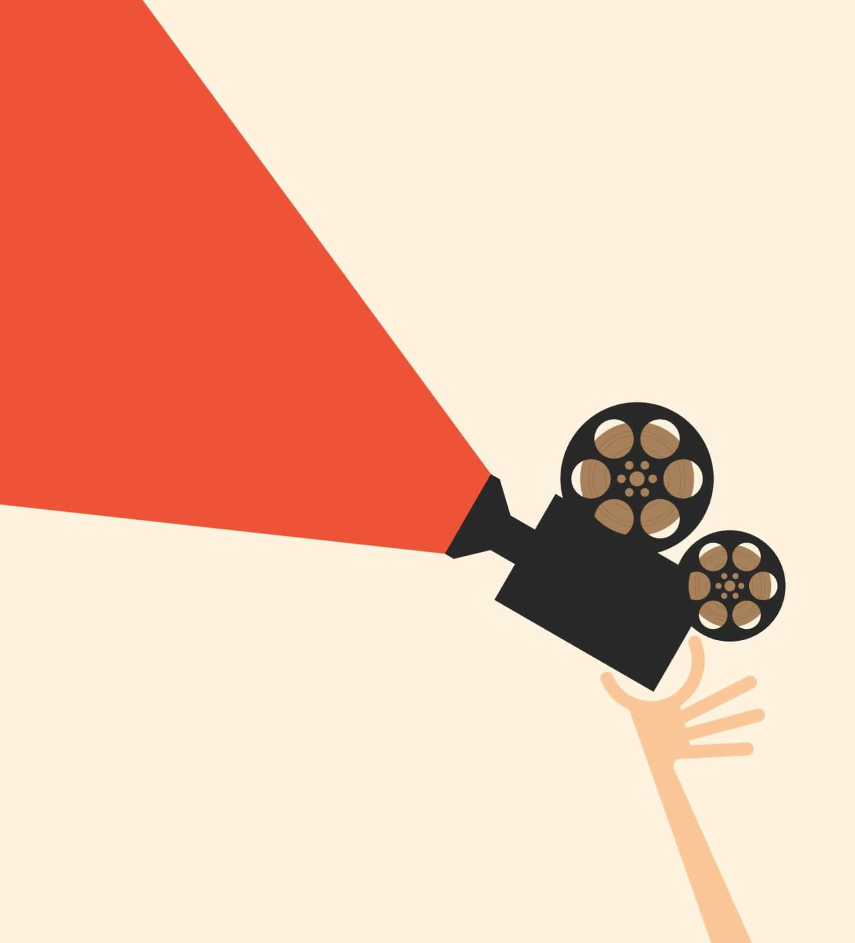 movie film real and poster illustration