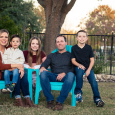 Holly Tomlin with her family