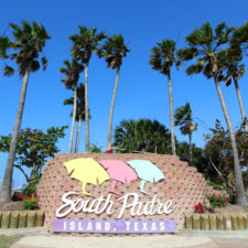 welcome sign at south padre island texas