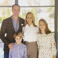 meredith land with her family