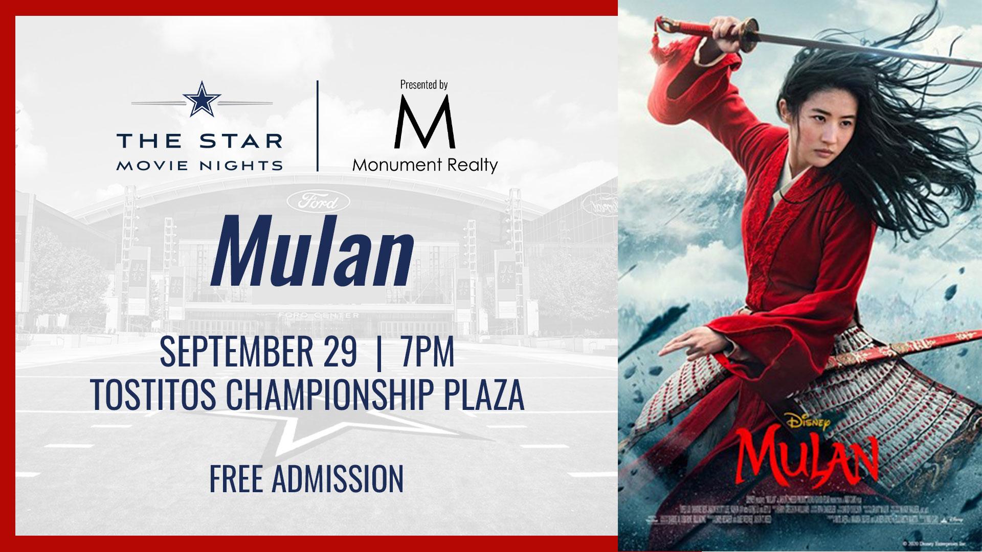 Movie at The Star, Mulan