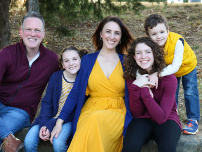 krista villareal moore with her family