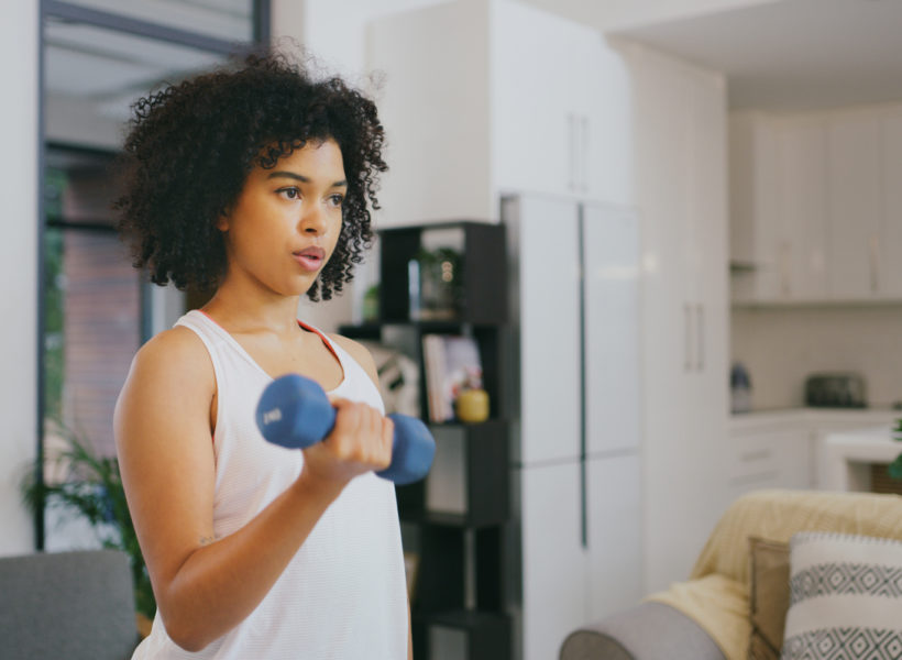 woman working out postpartum