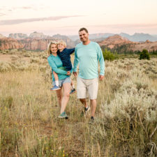 summer family trip to Zion National Park, Utah