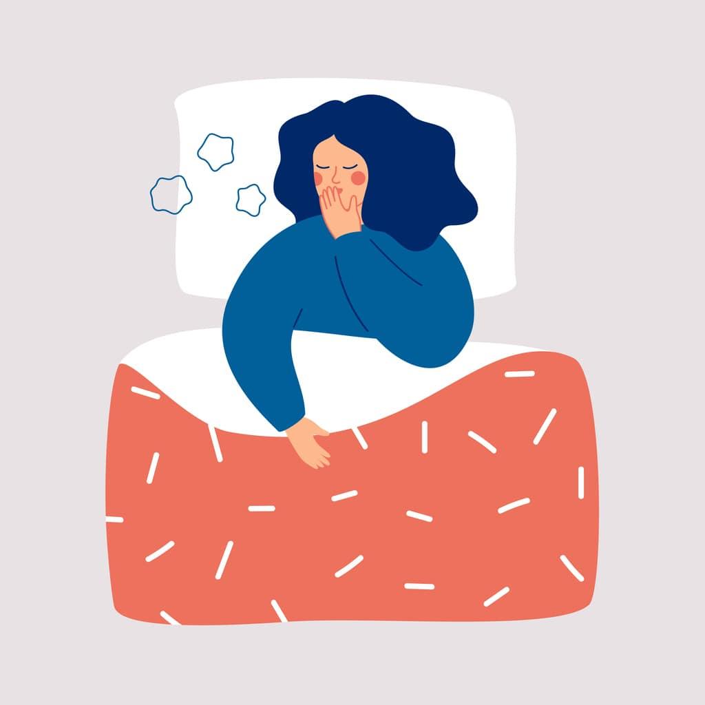 young girl sleeping with autism
