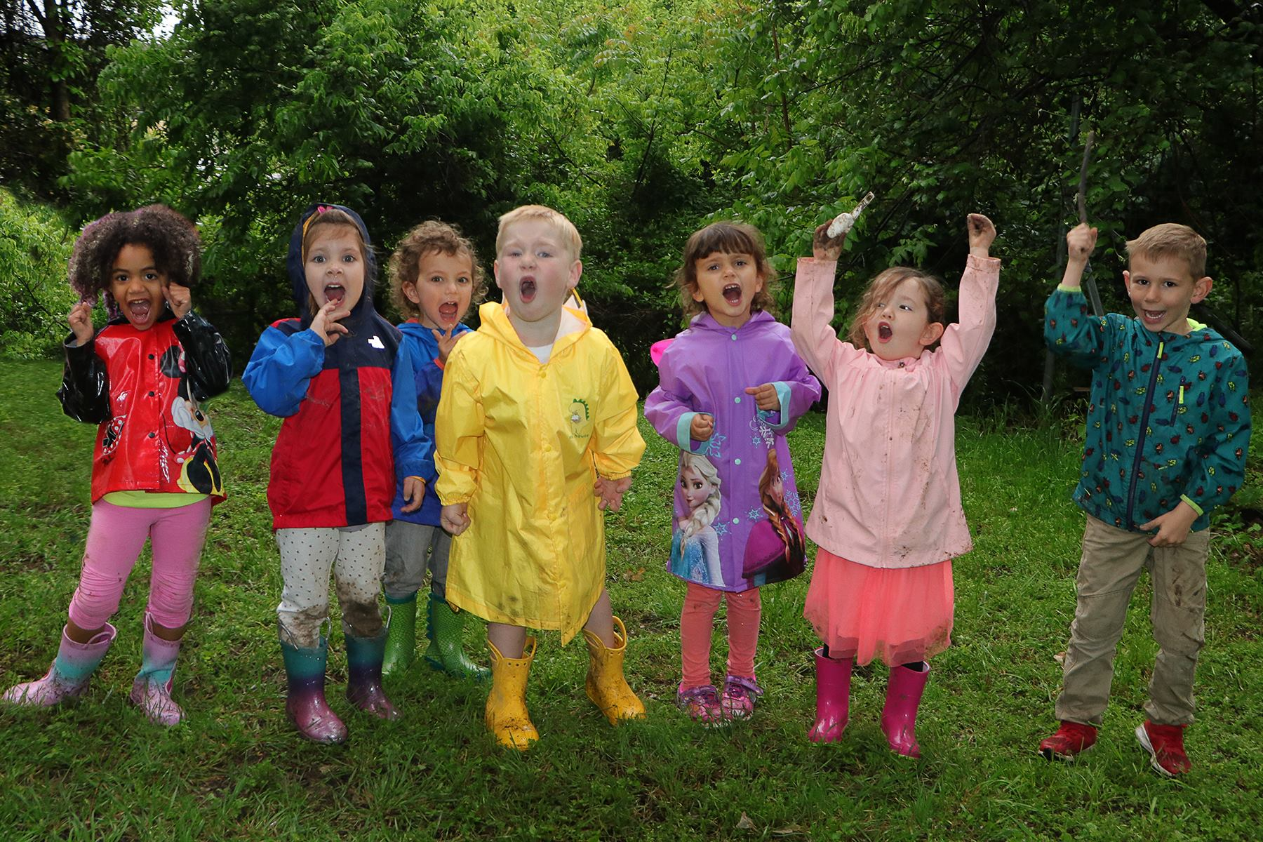 Nature play article, Wild Earth Preschool students c of Dallas Zoo