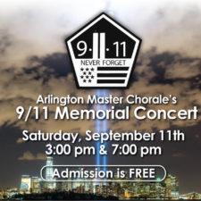Arlington Master Chorale's 9/11 September 11 Memorial Concert