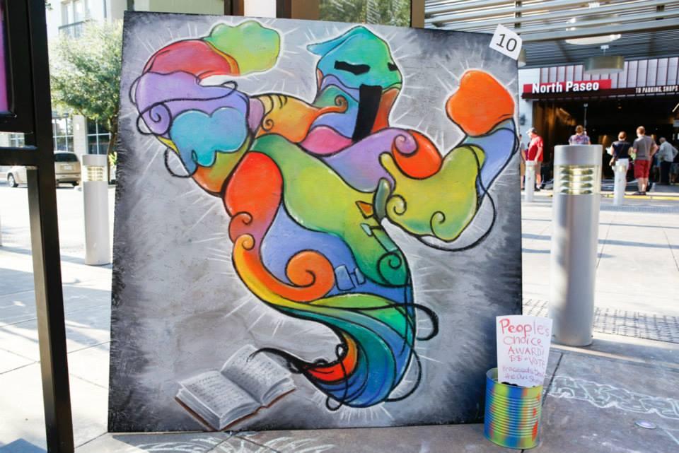 Crockett Row at West 7th, Monsters & Murals: Halloween Chalk Art Festival