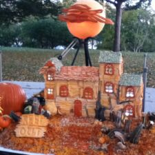 Pumpkin haunted house carving at Halloween at the White House, Photo courtesy of Chef Ray Duey,