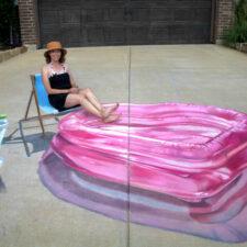 Jan Riggins, chalk art