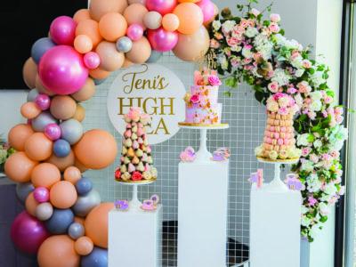 Tea birthday party decor